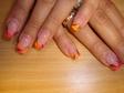 Narancs rövid műköröm