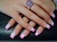 Rózsaszín csillámos műköröm